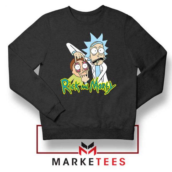 Rick and Morty Eyes Open Sweatshirt
