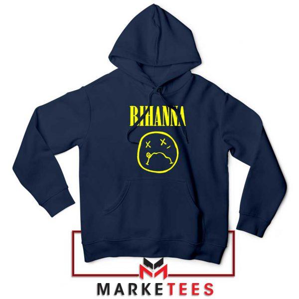 Rihanna Nirvana Navy Blue Hoodie