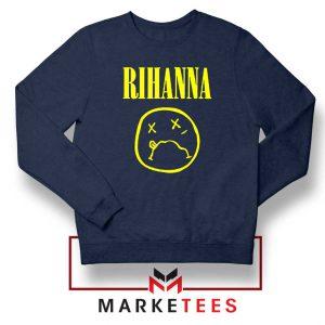 Rihanna Nirvana Navy Blue Sweatshirt