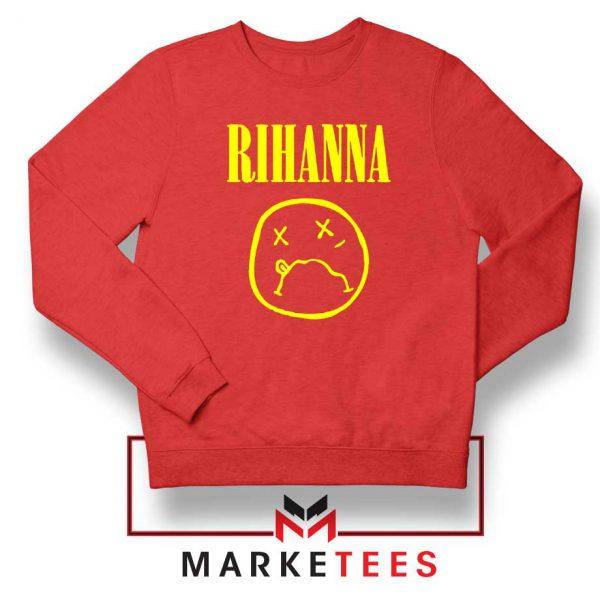 Rihanna Nirvana Red Sweatshirt
