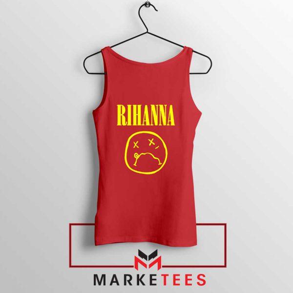 Rihanna Nirvana Red Tank Top