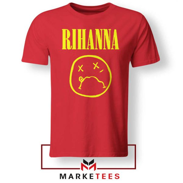 Rihanna Nirvana Red Tee Shirt