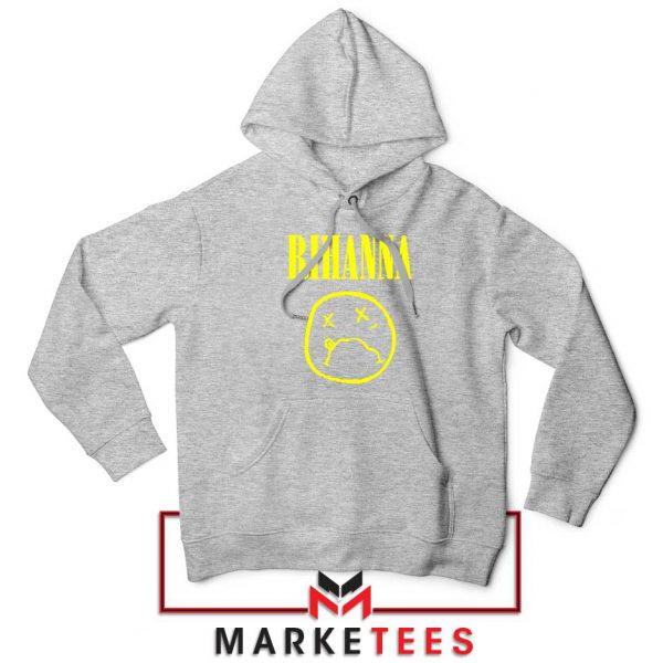 Rihanna Nirvana Sport Grey Hoodie