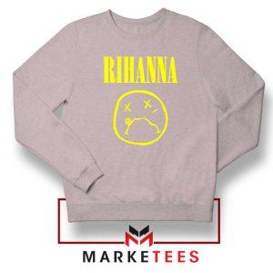 Rihanna Nirvana Sport Grey Sweatshirt