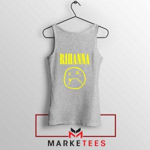 Rihanna Nirvana Sport Grey Tank Top