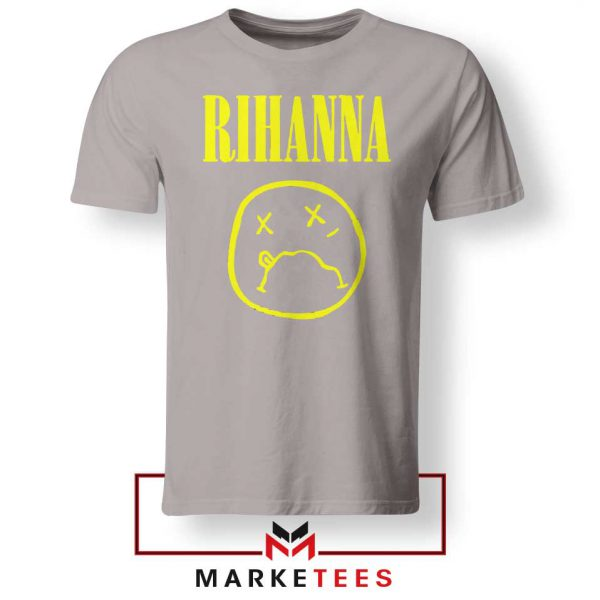 Rihanna Nirvana Sport Grey Tee Shirt
