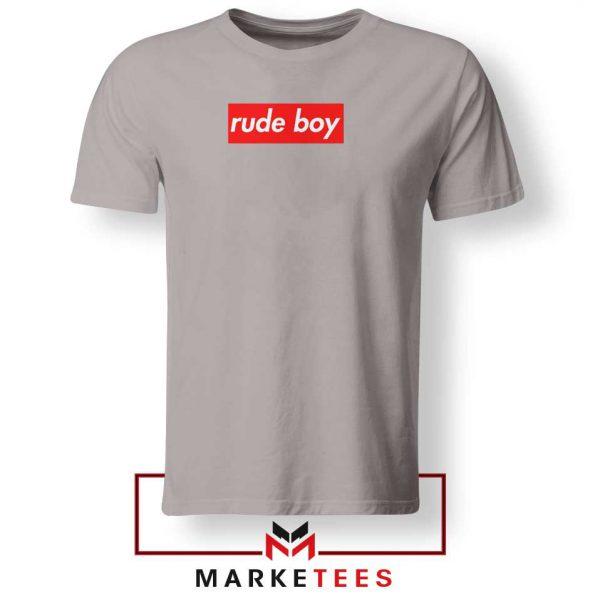Rude Boy Music Rihanna Sport Grey Tee Shirt