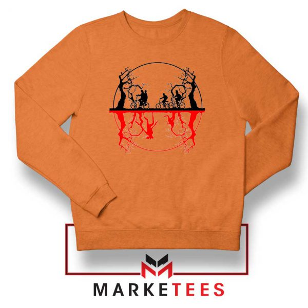 Silhouettes Upside Down Orange Sweatshirt
