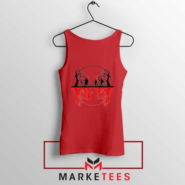 Silhouettes Upside Down Red Tank Top