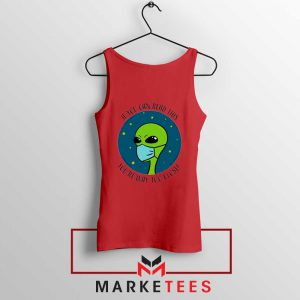 Social Distancing Alien Red Tank Top