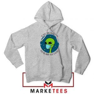 Social Distancing Alien Sport Grey Hoodie