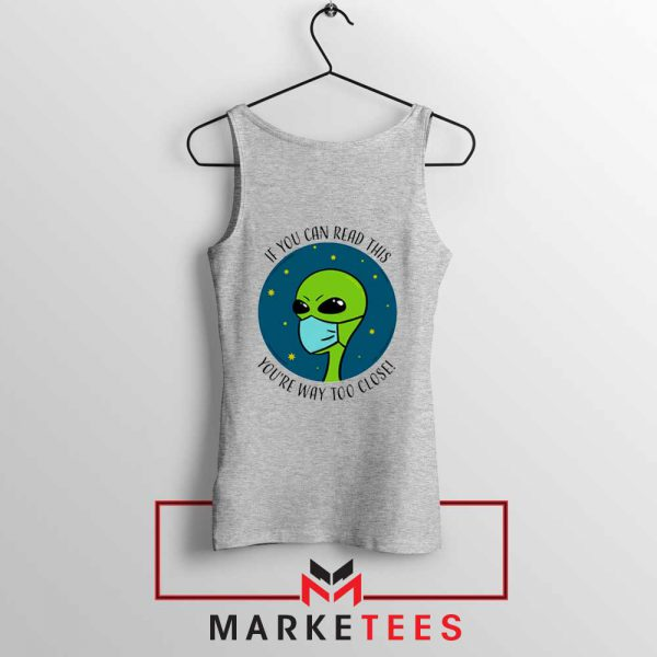 Social Distancing Alien Sport Grey Tank Top