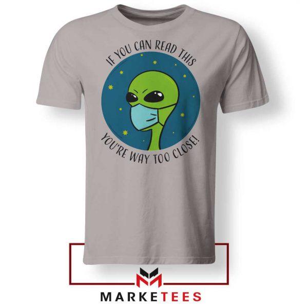Social Distancing Alien Sport Grey Tshirt