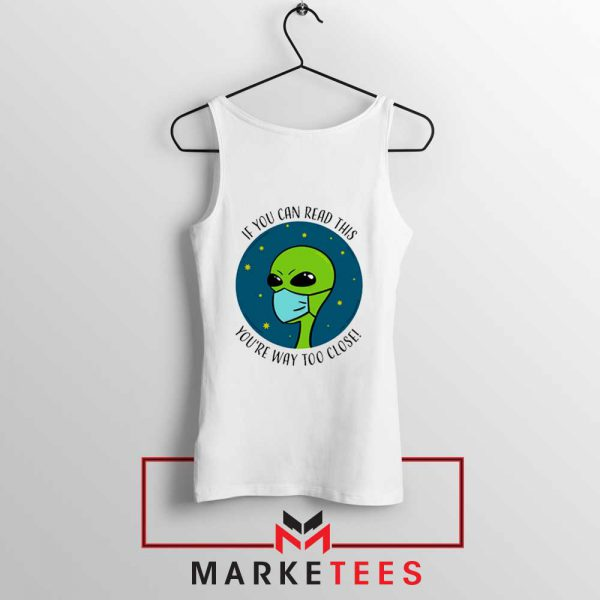 Social Distancing Alien Tank Top