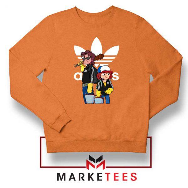 Stranger Things Adidas Parody Orange Sweatshirt