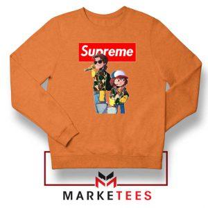 Stranger Things Dustin And Steve Orange Sweater
