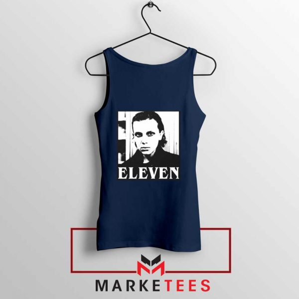 Stranger Things Eleven Graphic Navy Blue Tank Top
