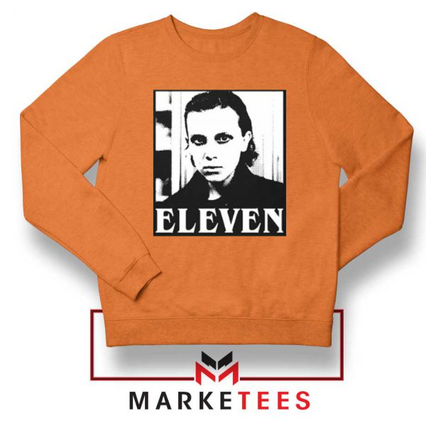 Stranger Things Eleven Graphic Orange Sweatshirt