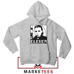 Stranger Things Eleven Graphic Sport Grey Hoodie