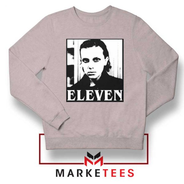 Stranger Things Eleven Graphic Sport Grey Sweatshirt