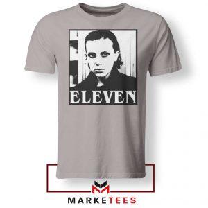 Stranger Things Eleven Graphic Sport Grey Tee Shirt