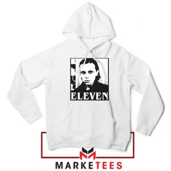 Stranger Things Eleven Graphic White Hoodie