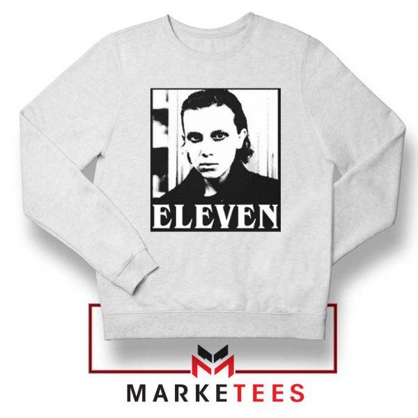 Stranger Things Eleven Graphic White Sweatshirt