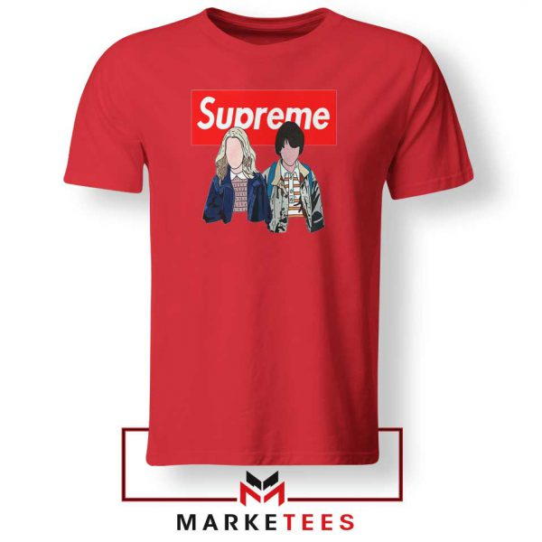 Stranger Things Eleven and Mike Red Tee Shirt