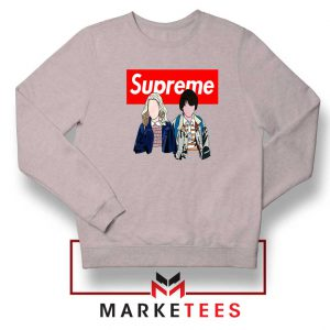 Stranger Things Eleven and Mike Sport Grey Sweatshirt