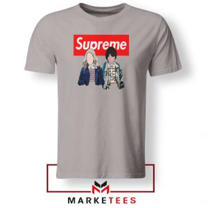 Stranger Things Eleven and Mike Sport Grey Tee Shirt