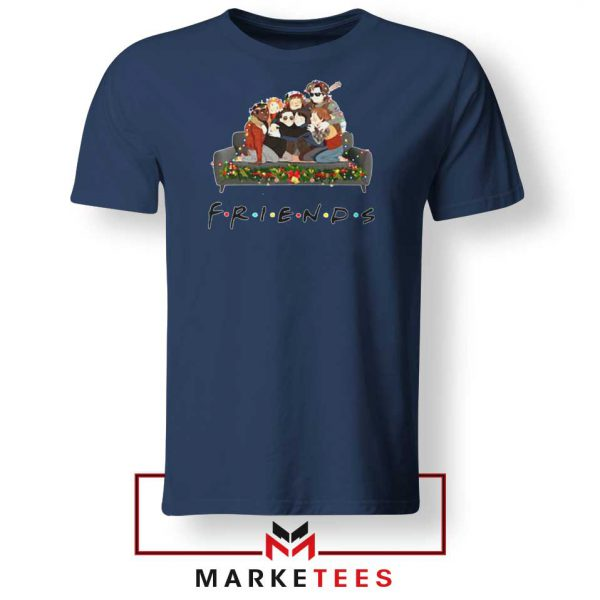 Stranger Things Friends Navy Blue Tee Shirt