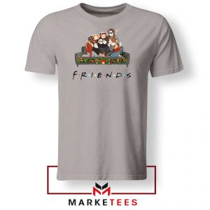 Stranger Things Friends Sport Grey Tee Shirt