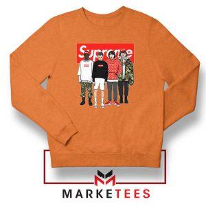 Stranger Things Funny Supreme Orange Sweater