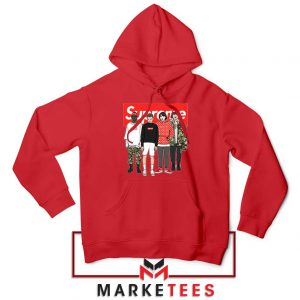Stranger Things Funny Supreme Red Hoodie