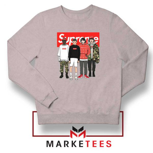 Stranger Things Funny Supreme Sport Grey Sweater