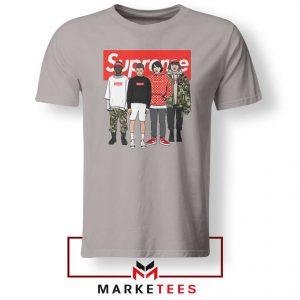 Stranger Things Funny Supreme Sport Grey Tee Shirt