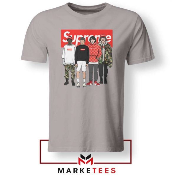 Stranger Things Funny Supreme Sport Grey Tee Shirt