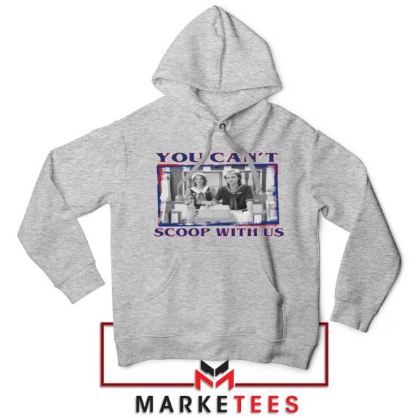 Stranger Things You Cant Scoop Sport Grey Hoodie