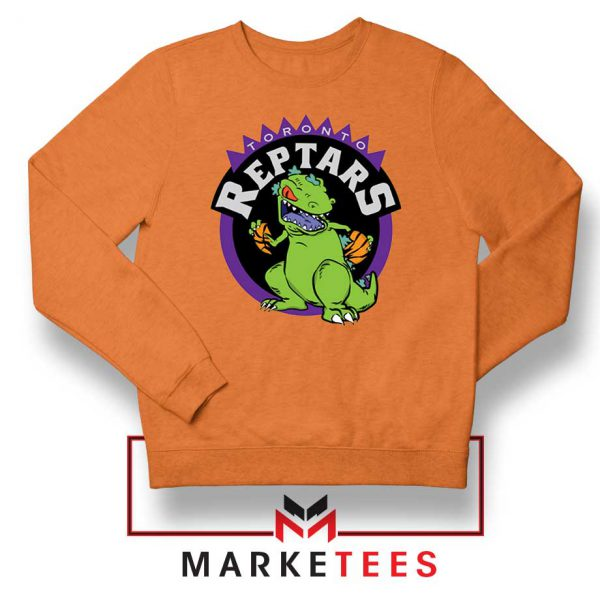 Toronto NBA Parody Reptars Orange Sweatshirt