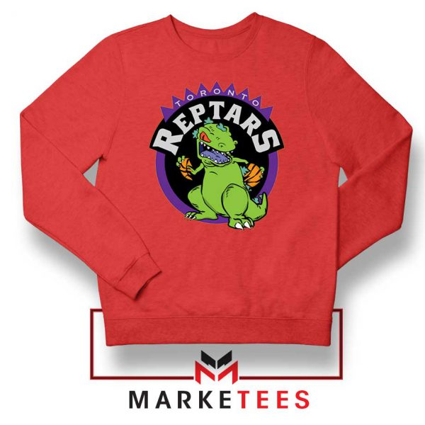 Toronto NBA Parody Reptars Red Sweatshirt