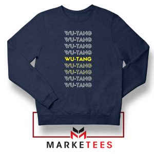 Typography Rapper Group Navy Blue Sweatshirt