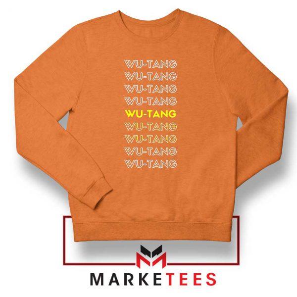 Typography Rapper Group Orange Sweatshirt