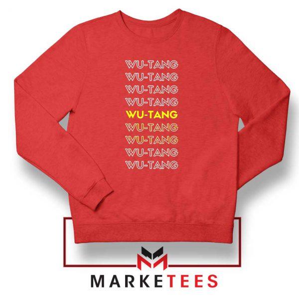 Typography Rapper Group Red Sweatshirt