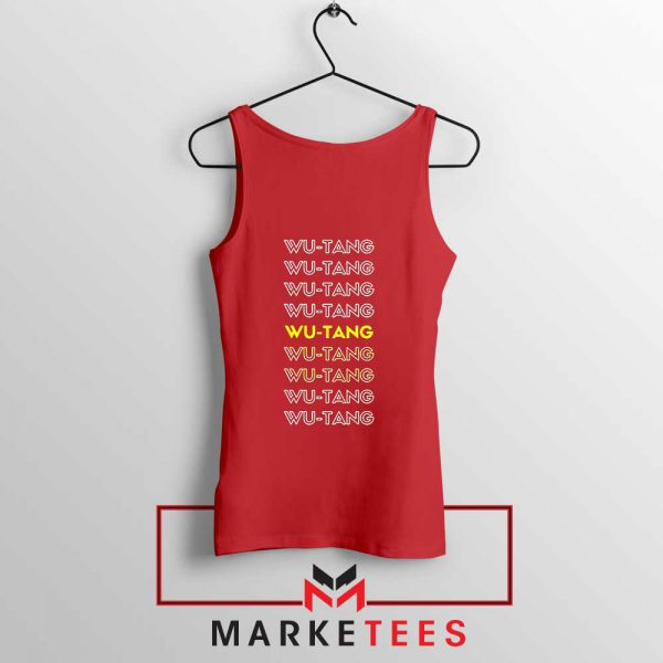 Typography Rapper Group Red Tank Top