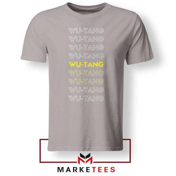 Typography Rapper Group Sport Grey Tshirt