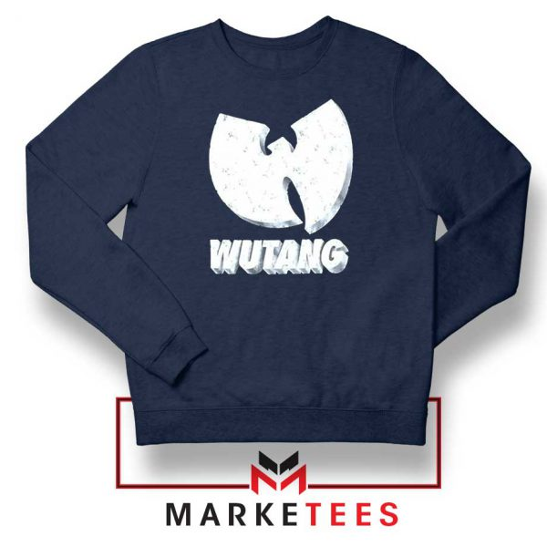 Vintage 90s Wutang Clan Logo Navy Blue Sweater