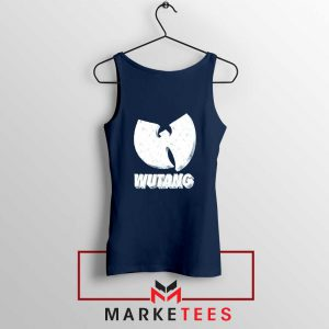 Vintage 90s Wutang Clan Logo Navy Blue Tank Top