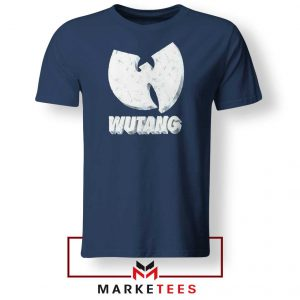 Vintage 90s Wutang Clan Logo Navy Blue Tee Shirt
