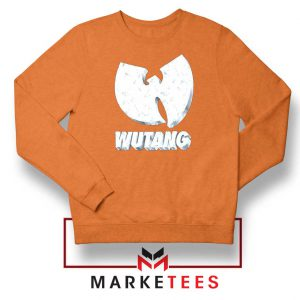 Vintage 90s Wutang Clan Logo Orange Sweater