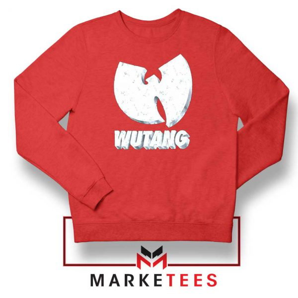 Vintage 90s Wutang Clan Logo Red Sweater